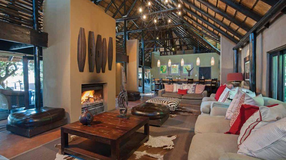 Le salon du Kariega River Lodge