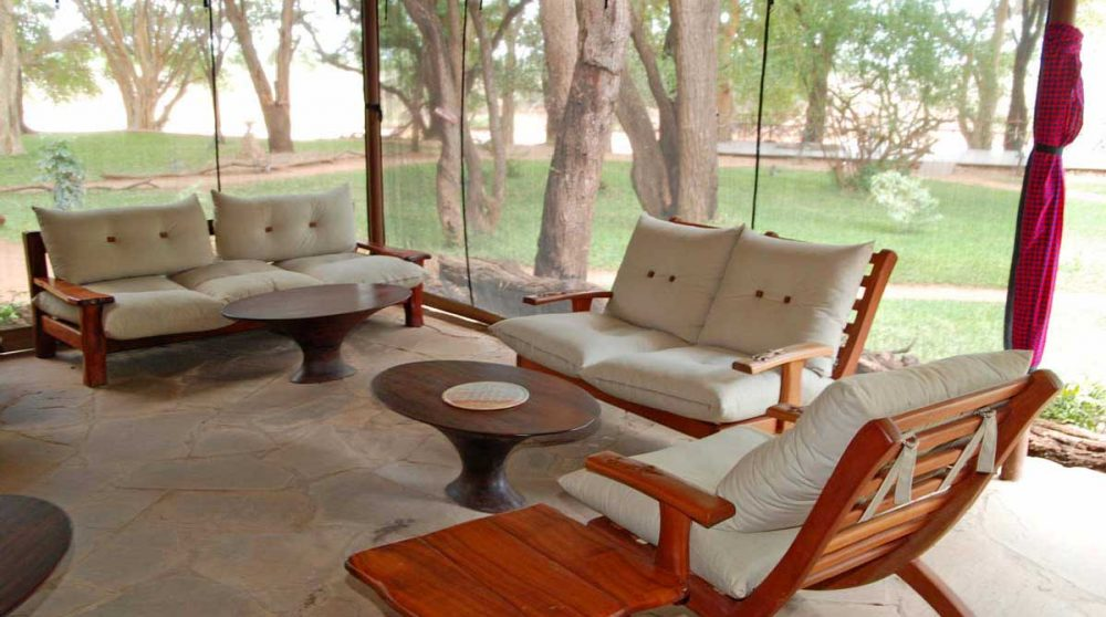 Un salon au Larsens Tented Camp