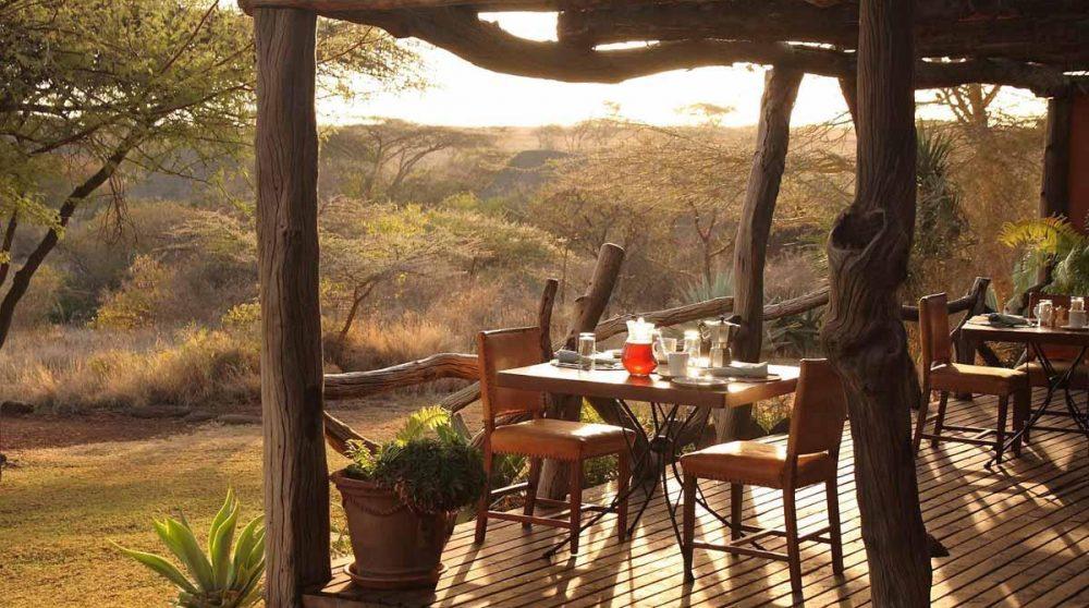 Autre vue de la tessasse à Lewa Safari Camp
