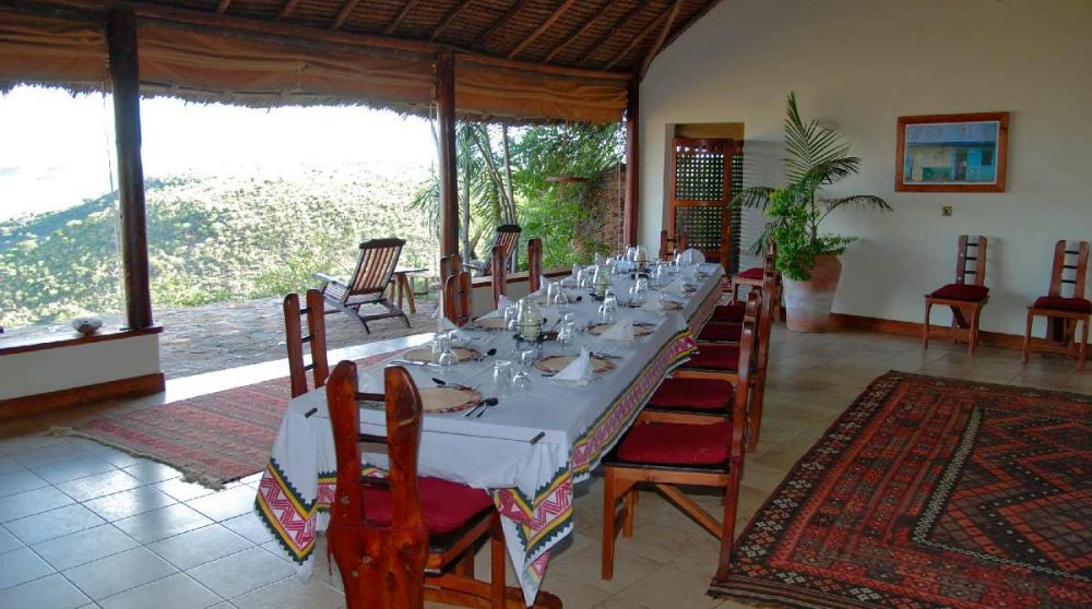 La salle à manger au Loisaba