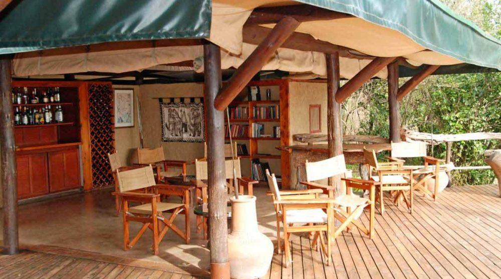 La jolie terrasse du Mara Explorer