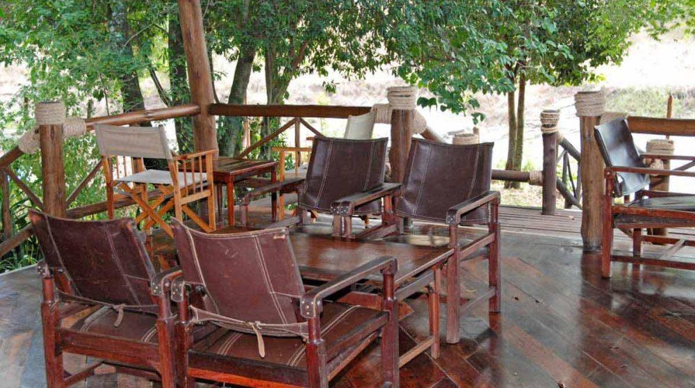 La terrasse du Mara Intrepids