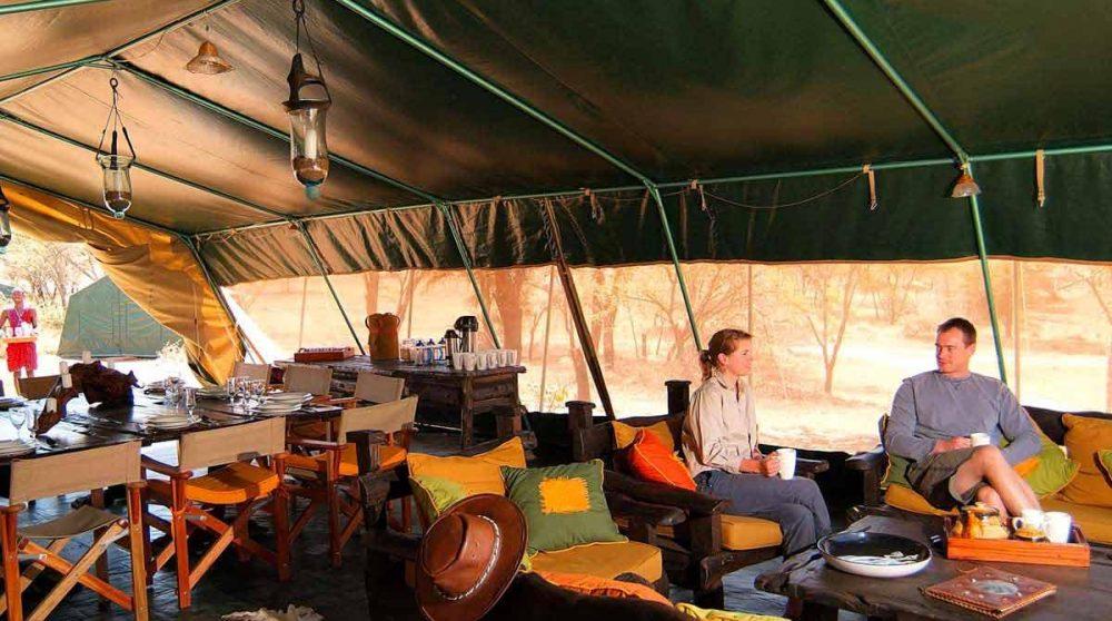 Moment de détente à Mara Porini Camp