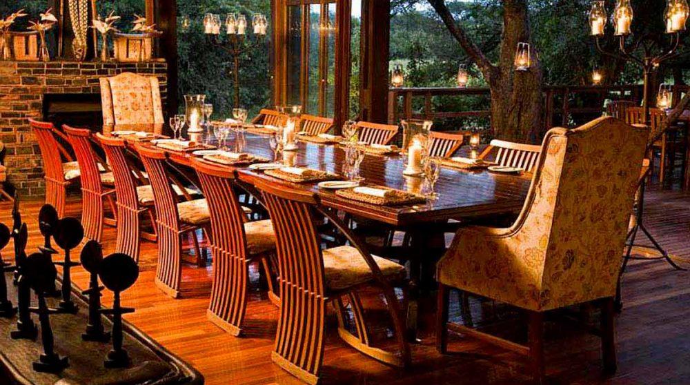 Le restaurant du Phinda Vlei Lodge