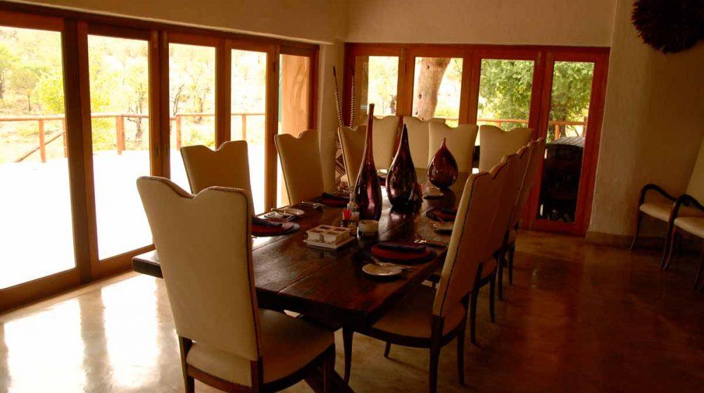 La salle à manger du Royal Madikwe