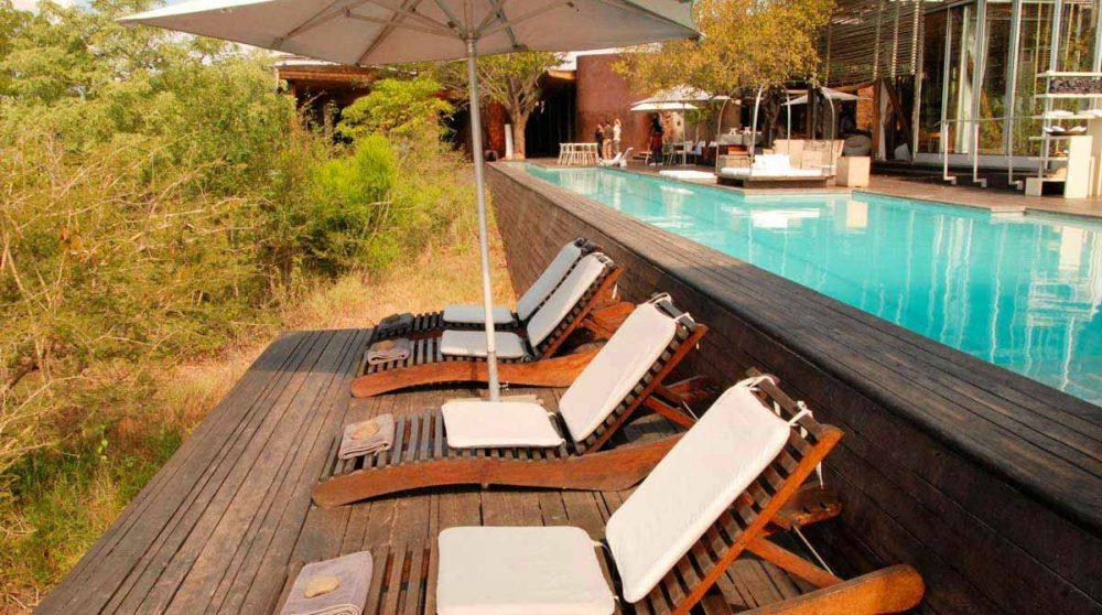 La piscine du Singita Lelombo
