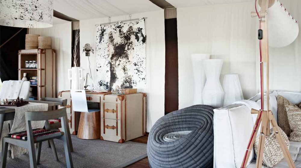 Le salon du Singita Mara Tented Camp