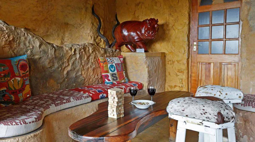 La terrasse du bar à The Cavern