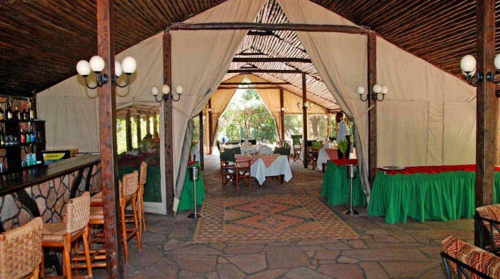 Autre vue du bar dans le Masai Mara