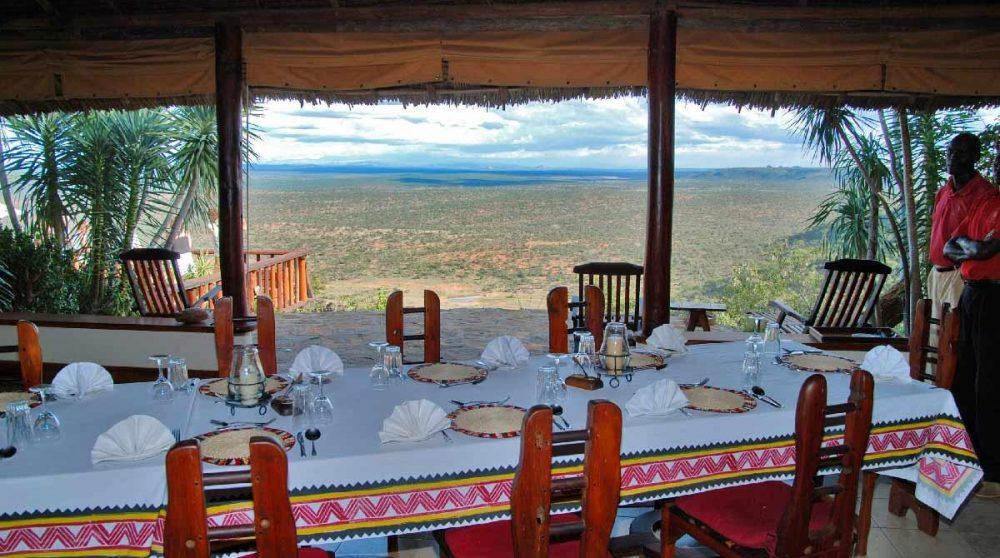 La vue depuis la salle à manger à Laikipia