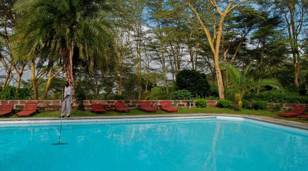La piscine au Kenya