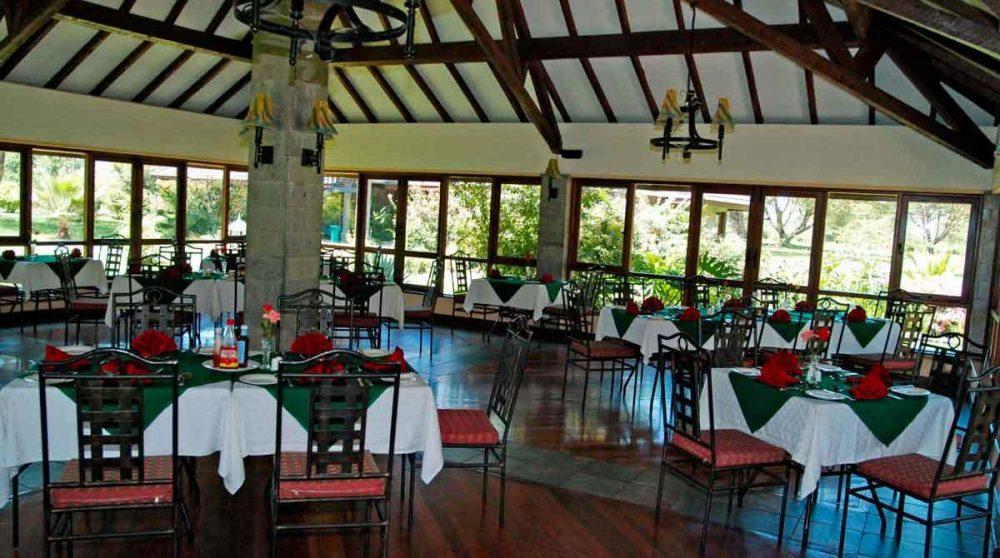 Autre vue du restaurant au Kenya