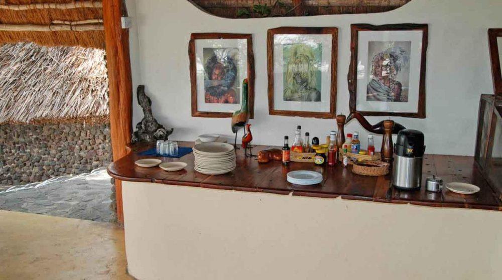 Une colation au restaurant au Kenya