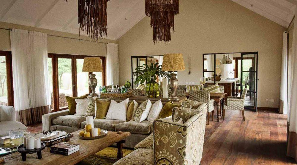 Autre vue du salon du Siringit Villa
