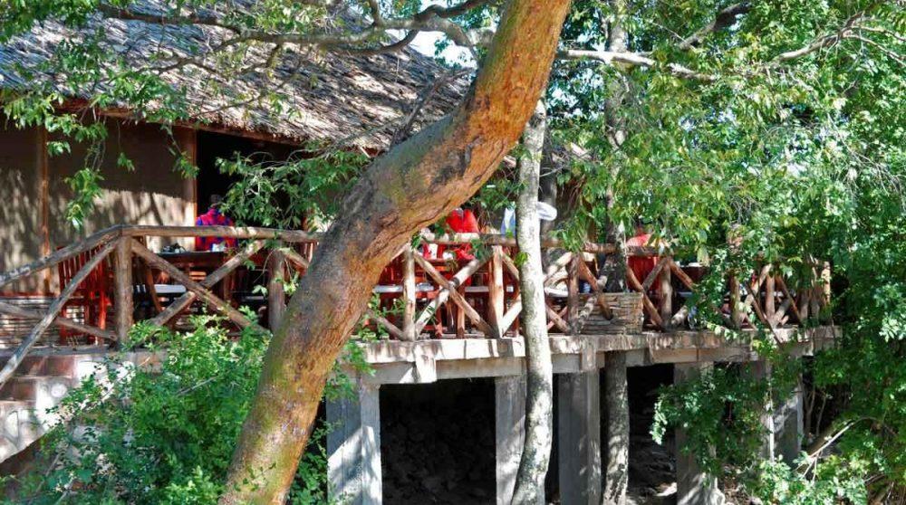 Vue sur la terrasse au Kenya