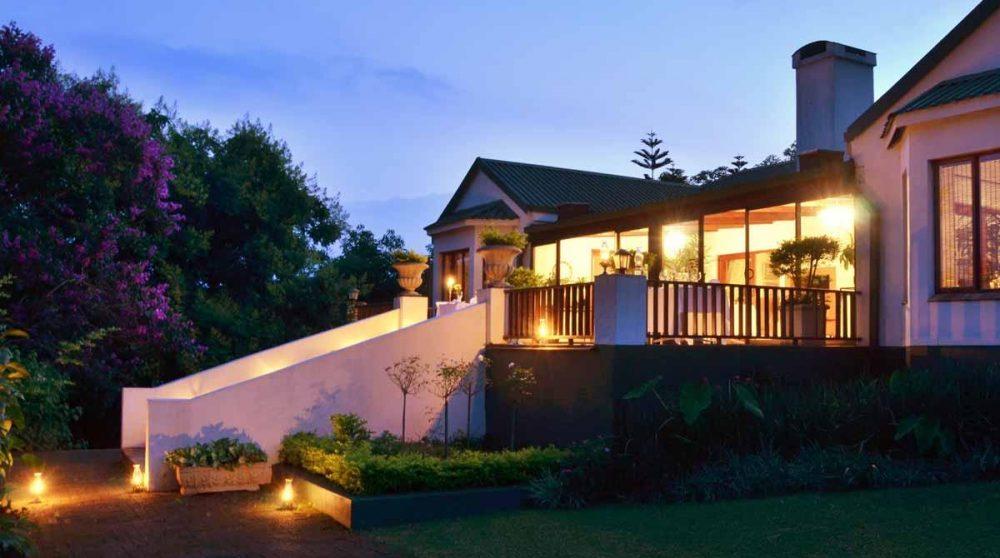 Le salon le soir dans le Mpumalanga