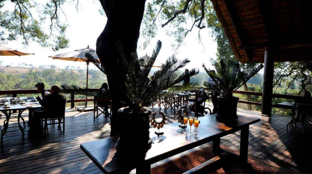 La terrasse près du parc Kruger