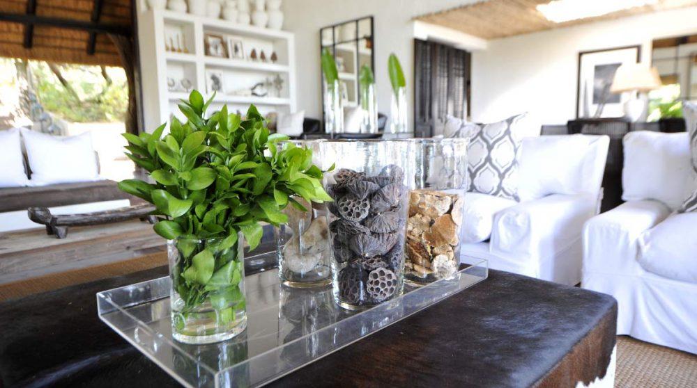 Décoration naturelle dans le salon près du parc Kruger