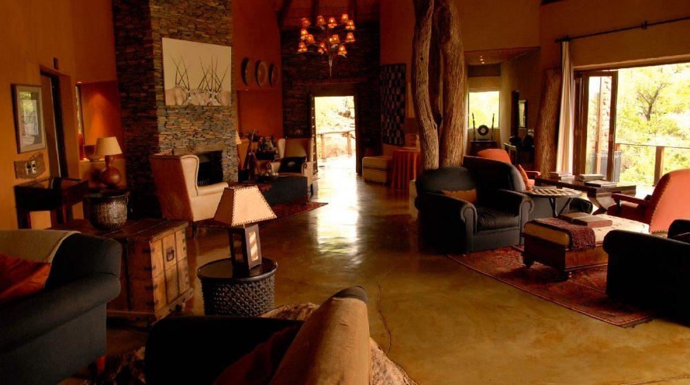 L'intérieur de l'hôtel en Afrique du Sud