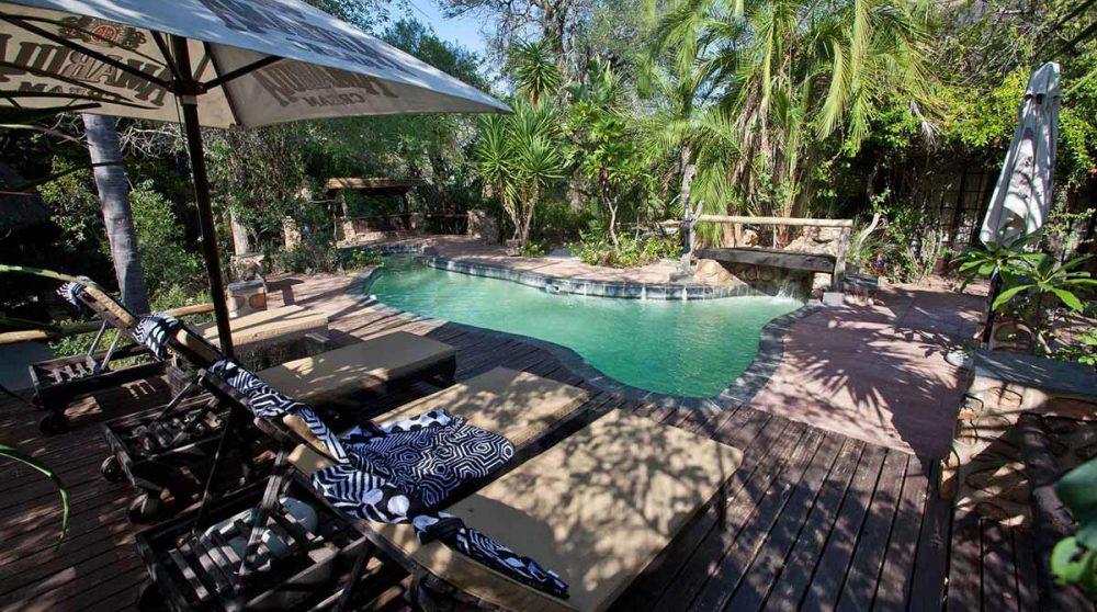 Autre vue de la piscine ombragée