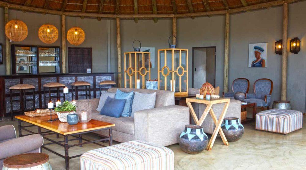 L'intérieur du camp en Afrique du Sud
