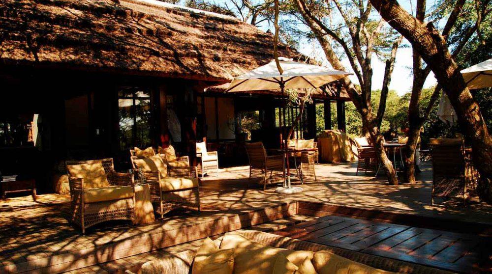 La terrasse du restaurant en Afrique du Sud