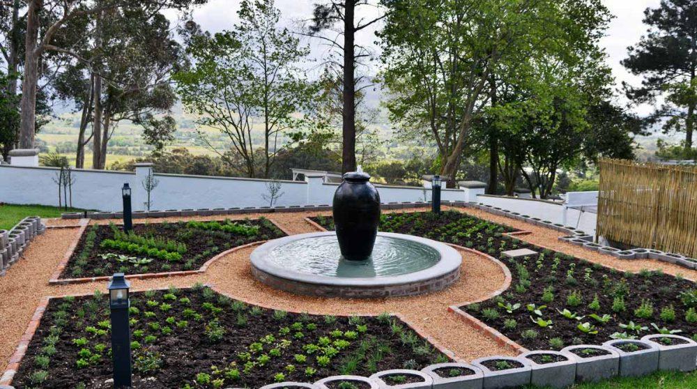 Le jardin aromatique à Franschhoek