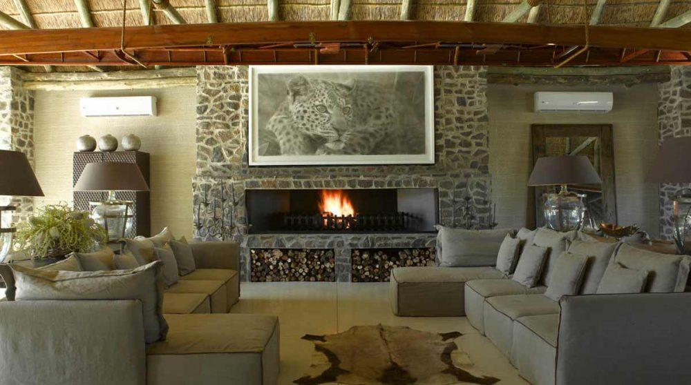 Le salon principal dans le Kalahari