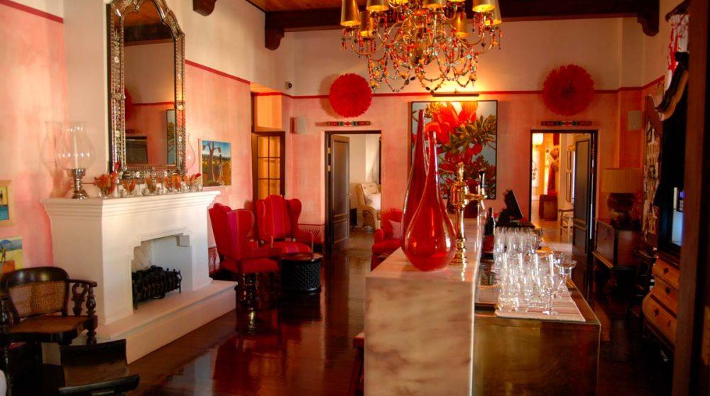 Le bar de l'hôtel en Afrique du Sud