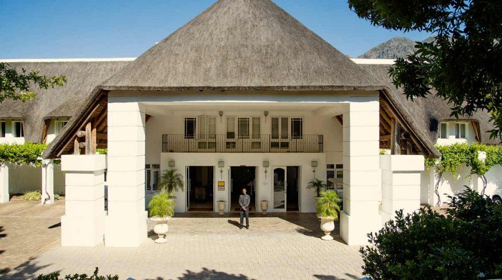 L'entrée de l'hôtel en Afrique du Sud