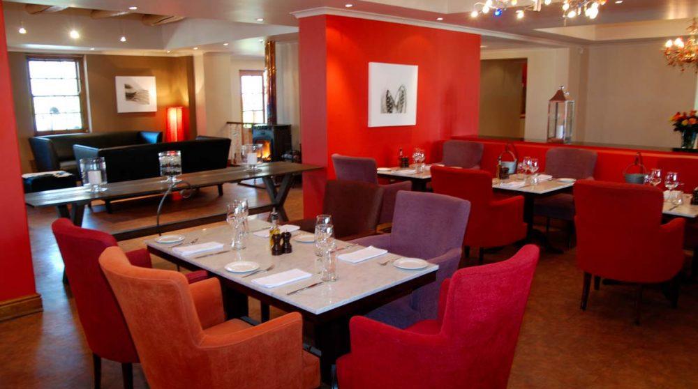 Des tables au restaurant en Afrique du Sud