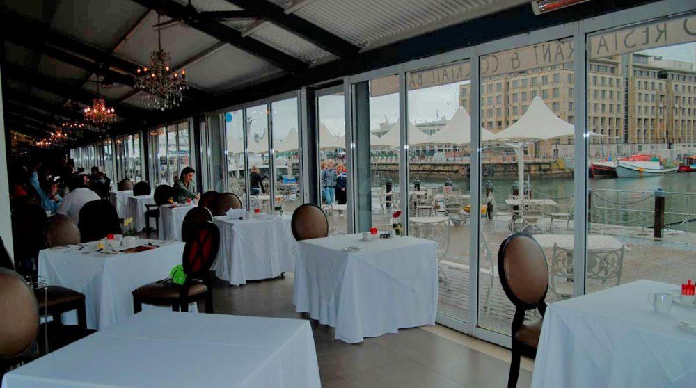 Le restaurant avec vue en Afrique du Sud