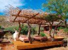 Lieu de détente dans le Kalahari