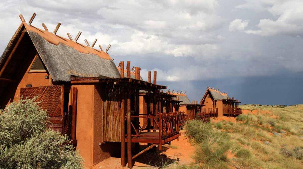 Les chambres dans le Kalahari