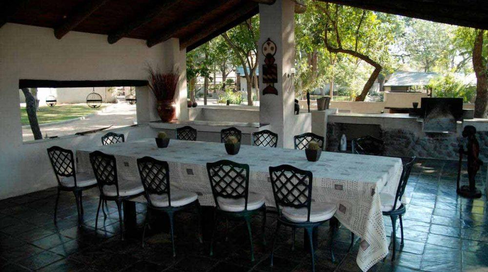 La salle à manger en Afrique du Sud
