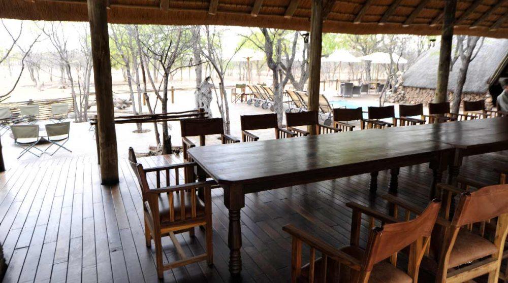 La salle à manger à Etosha
