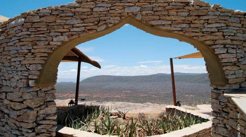 La vue depuis l'hôtel au Kenya