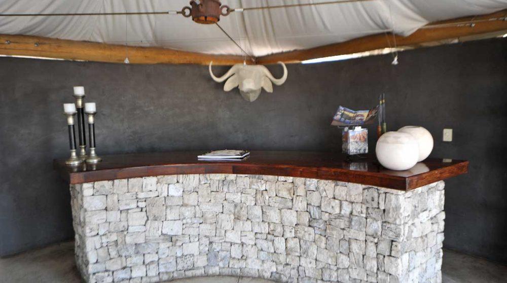 Autre vue de la tente en Namibie
