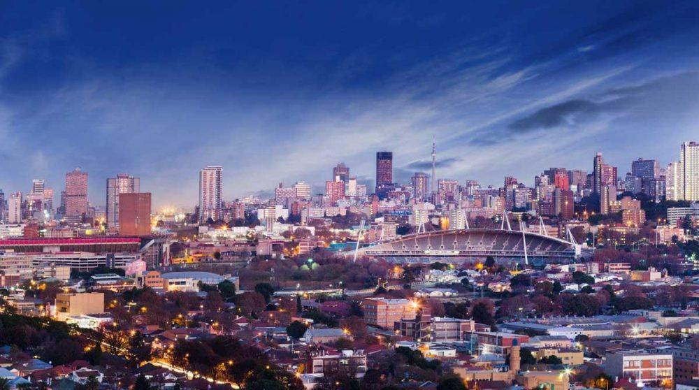 Le skyline de Johannesburg, dans le Gauteng