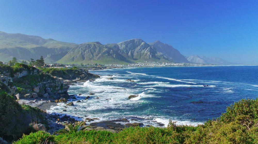 La côte à Hermanus en Afrique du Sud