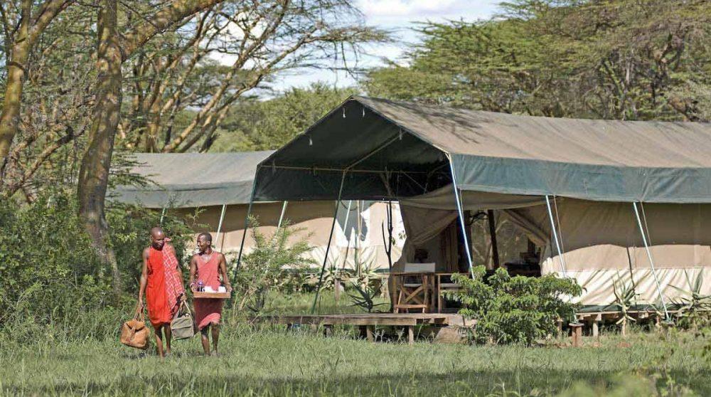 L'accueil à l'arrivée à votre tente