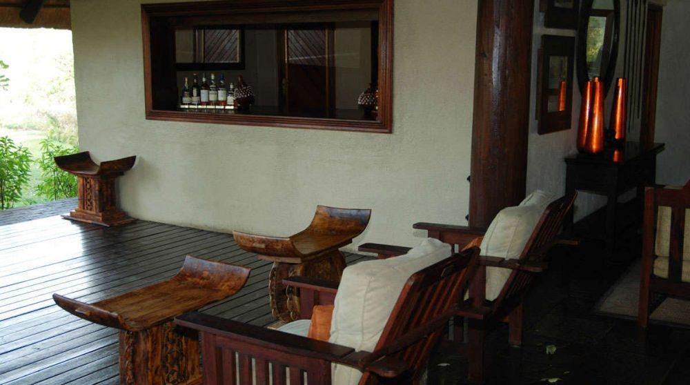 Espace détente sur la terrasse