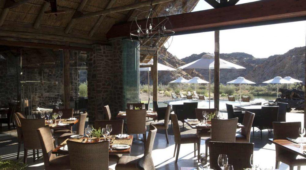 La salle de restaurant en Afrique du Sud