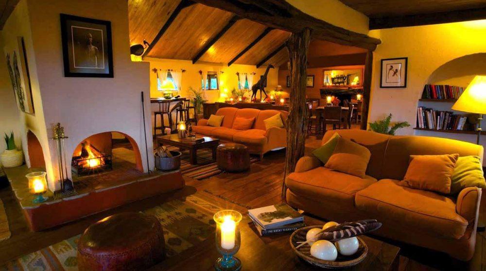 Le salon et le bar au Kenya