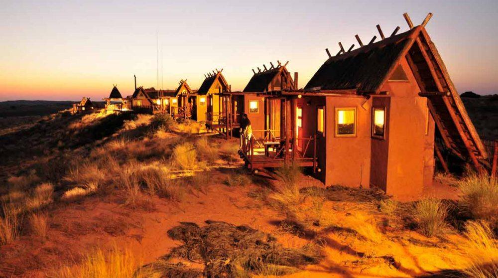 Les chambres le soir en Afrique du Sud