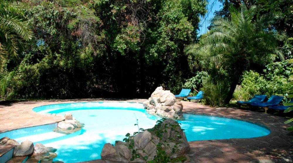 La piscine du Siana Springs dans le Masai Mara