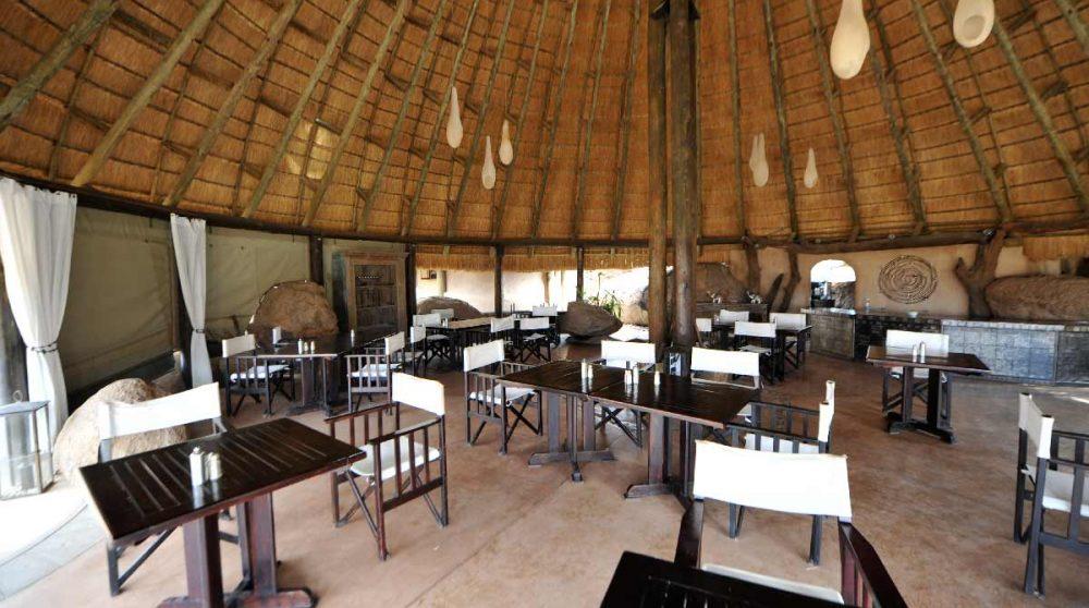 Le restaurant dans le Damaraland