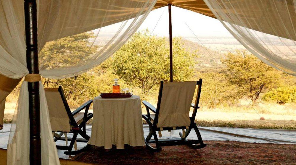 Vue depuis la terrasse au Masai Mara