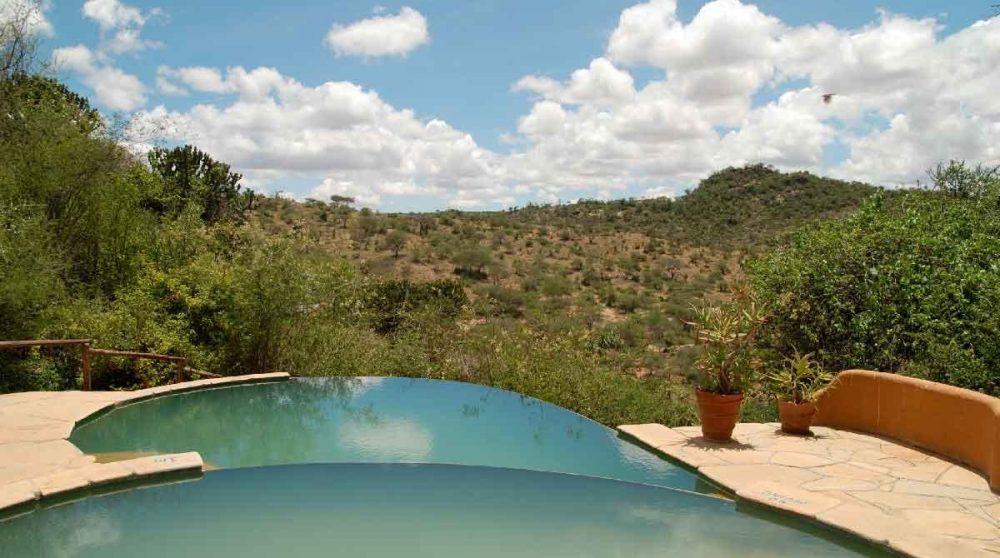 La vue depuis la piscine à Laikipia