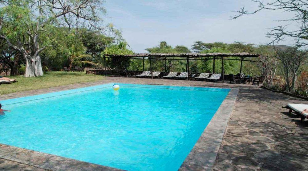 La piscine au lac Baringo